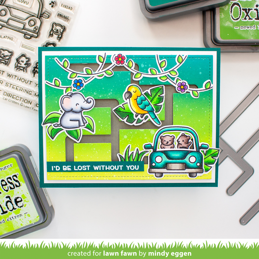 Lawn Fawn Mini Release: Slide On Over Maze